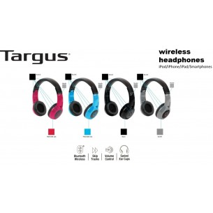 TARGUS WIRELESS HEADPHONES TA-44HP BT BLUETOOTH