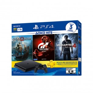 Sony Play Station 4 1TB Hits 3 Juegos Gow + Gts + Uc4