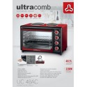 ULTRACOMB HORNO ELECTRICO UC40AC 40LTS C/DOBLE ANAFE