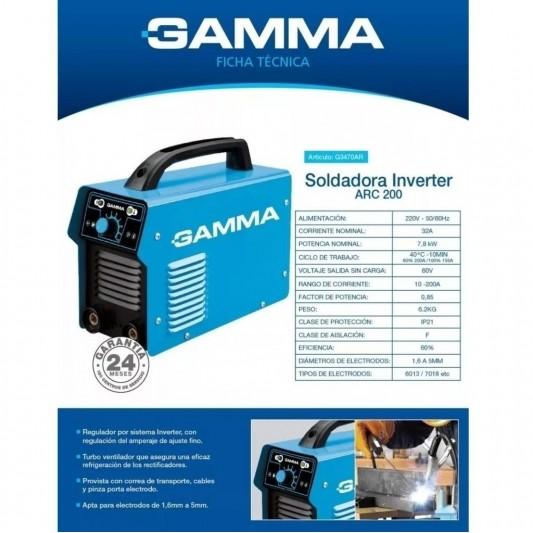 GAMMA SOLDADORA INVERTER M.3470 ARC 200 | 200 A | INVERTER