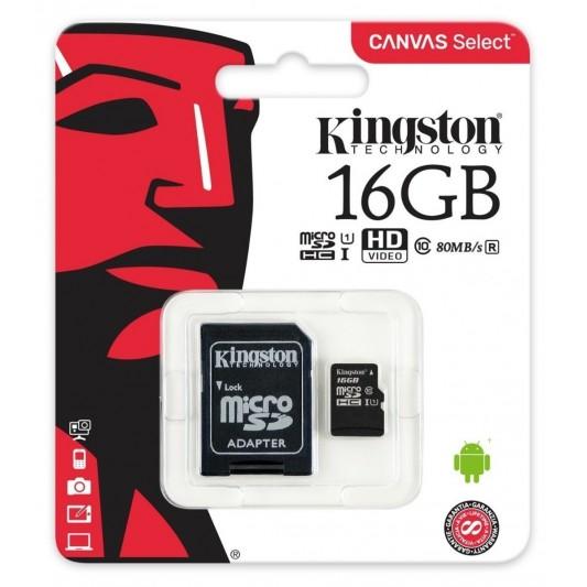 KINGSTON TARJETA MICRO SD-16GB SDCS/16GB