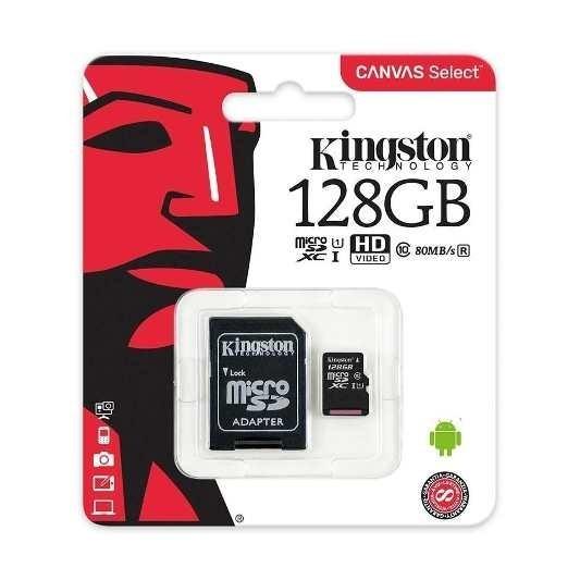 Memoria Micro Sd 128 Gb Hc C.10 80 Mb Kingston Nueva