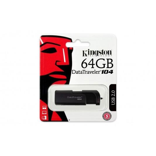 Pendrive Kingston 64gb Usb 2.0 Retráctil