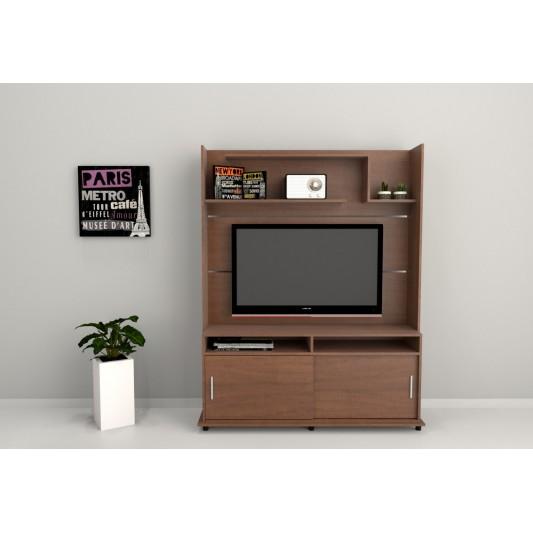 "TABLE'S CENTRO ENTRETENIMIENTO TV-LCD-LED 52"" ART.1106 CAOBA/TABACO"
