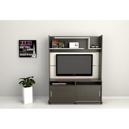 "TABLE'S CENTRO ENTRETENIMIENTO TV-LCD-LED 52"" ART.1106 COMB.WENGUE/HABANO"