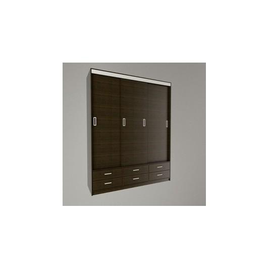 TABLE'S PLACARD CORREDIZO 1.77 MTS 6404-WH WENGUE/HABANO