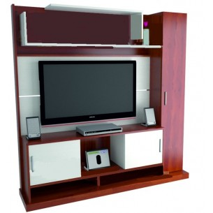 "TABLE'S CENTRO ENTRETENIMIENTO TV/LCD/LED 32""-55"" ART.1103 MELAMINA CAOBA"