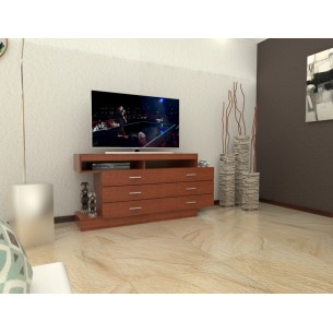 "TABLE'S MESA P/TV/LCD/LED 32""-60"" ART.1035 MELAMINA CAOBA"