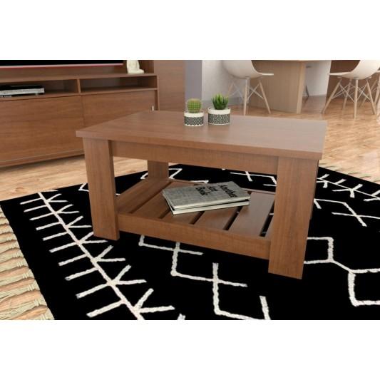 TABLE'S MESA RATONA RECTANGULAR CIEGA 070X037X045 ART.2002 MELAMINA CAOBA