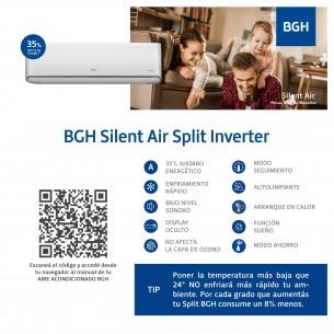BGH SILENT AIR A.AIRE BSI-35WCCR 3430W | FR-CAL | INVERTER