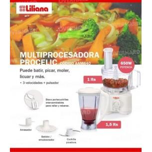 """LILIANA MULTIPROCESADORA AM640 """"PROCELIC"""" 650W C/VASO LIQUADOR"""