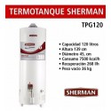 SHERMAN TERMOTANQUE 120 LTS TPGP120 L.BAJO CONSUMO MG