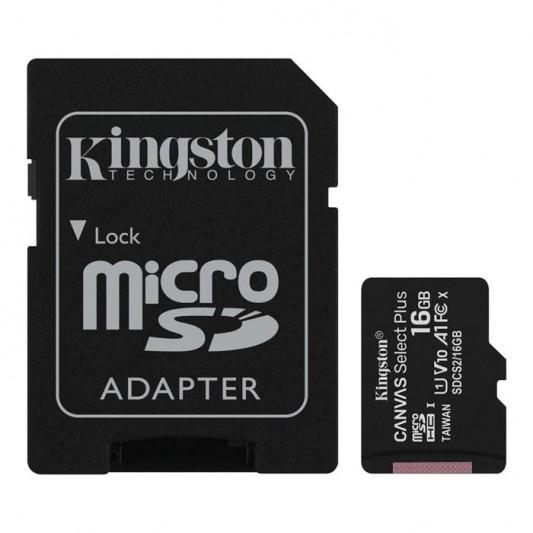 KINGSTON TARJETA MICRO SD-C16GB 1 ADAPT