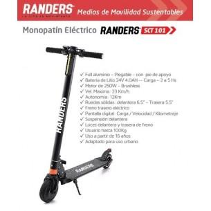 RANDERS MONOPATIN ELECTRICO SCT-101 | ADULTO | 100KG | 250W