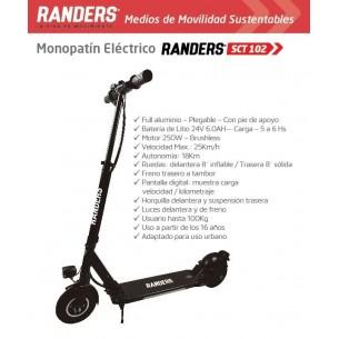 RANDERS MONOPATIN ELECTRICO SCT-102 | ADULTO | 100KG | 250W