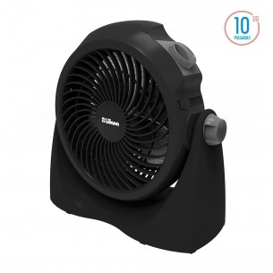 "LILIANA TURBOVENTILADOR VVTF10P 10"" 3 ASPAS NEGRAS PIE-PARED"
