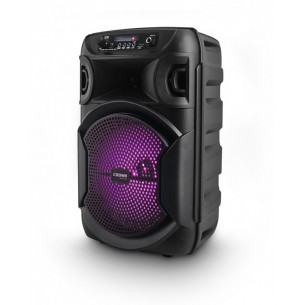 "CROWN MUSTANG BAFLE (CHICO) DJS-820BT 2500W PMPO 2X8"" BLUETOOTH LED FM DJ"