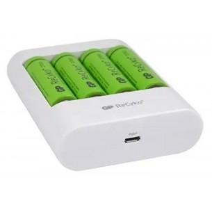 GP CARGADOR DE PILAS U411 USB C/4 AA 2700MAH
