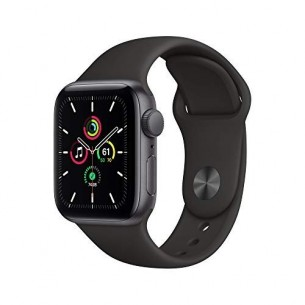 APPLE WATCH SE GPS 44 MM SPACE GRAY ALUMINUM CASE WITH BLACK SPORT BAND