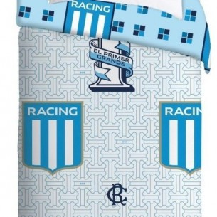 CASABLANCA 3910 ACOLCHADO FUTBOL TWIN RACING BLANCO