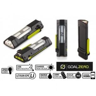 GOALZERO LINTERNA TORCH 250- USB,BATERIA RECARGABLE CON PANEL SOLAR Y DINAMO