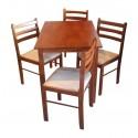 Juego de mesa y 4 sillas VETAS ATICA AMS400