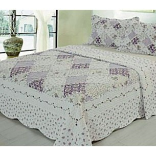 VIRIDIANA CUBRECAMA QUILT REAL PATCH T 1 1/2PL C/FUNDAS