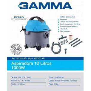 GAMMA ASPIRADORA 12 LITROS G2202AR LIQUIDOS/POLVOS 1000 W